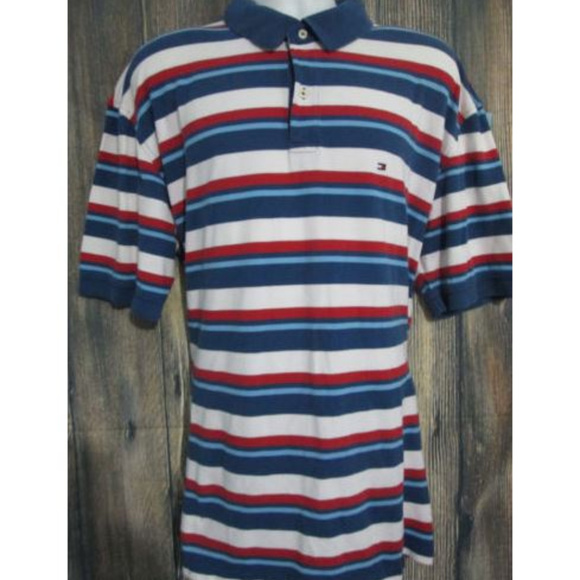 Tommy Hilfiger Mens  Striped  Polo Shirt Brand  New